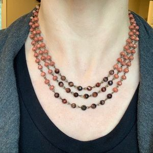 LOFT Jewelry - LOFT 3 strand beaded necklace
